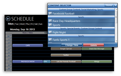 Scheduling tool screenshot